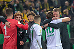 05.02.2019, Signal Iduna Park, Dortmund, GER, DFB-Pokal, Achtelfinale, Borussia Dortmund vs Werder Bremen<br /> <br /> DFB REGULATIONS PROHIBIT ANY USE OF PHOTOGRAPHS AS IMAGE SEQUENCES AND/OR QUASI-VIDEO.<br /> <br /> im Bild / picture shows<br /> <br /> Jubel Sieg <br /> Florian Kohfeldt (Trainer SV Werder Bremen) und Max Kruse (Werder Bremen #10)<br /> <br /> Foto &copy; nordphoto / Ewert