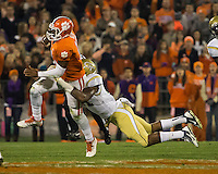 The eighth ranked Clemson Tigers defeat the Georgia Tech Yellow Jackets at Death Valley 55-31 in an ACC matchup.  Clemson Tigers quarterback Tajh Boyd (10), Georgia Tech Yellow Jackets linebacker Brandon Watts (11)
