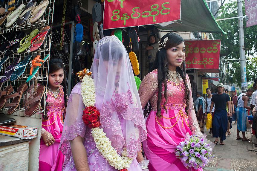 A Muslim wedding in Yangon.