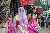 A Muslim wedding in Yangon.