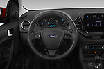 Car pictures of steering wheel view of a 2019 Ford Ka+ Ultimate 5 Door Hatchback