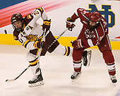 Karson Kuhlman (UMD - 20), Alexander Kerfoot (Harvard - 14) - The University of Minnesota Duluth Bulldogs defeated the Harvard University Crimson 2-1 in their Frozen Four semi-final on April 6, 2017, at the United Center in Chicago, Illinois.