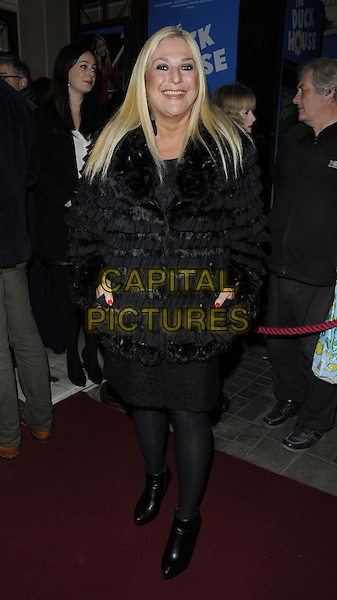 LONDON, ENGLAND - DECEMBER 10: Vanessa Feltz attends the &quot;Duck House&quot; press night, Vaudeville Theatre on December 10, 2013 in London, England, UK.<br /> CAP/CAN<br /> &copy;Can Nguyen/Capital Pictures