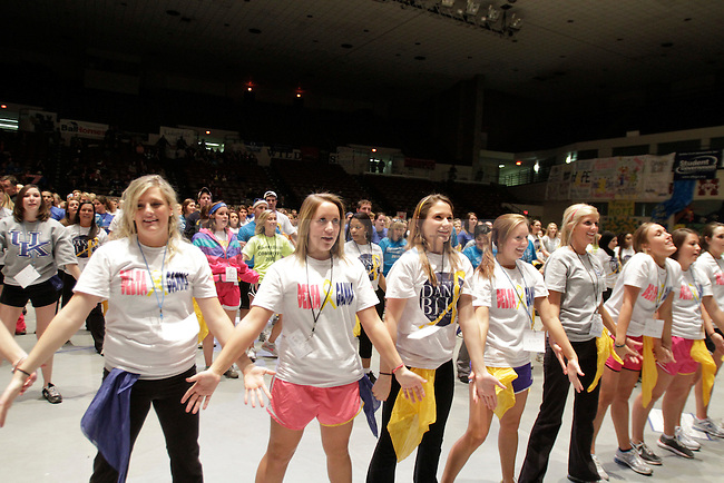 UK students participate in Dance Blue, a 24 hour dance marathon to raise money for children suffering from cancer. Photo by Scott Hannigan | Staff.