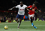 Tottenham Hotspur's Moussa Sissoko (L) battles for the ball with Manchester United's Fred during the Premier League match at Old Trafford, Manchester. Picture date: 4th December 2019. Picture credit should read: Darren Staples/Sportimage