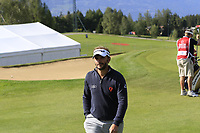 Joost Luiten (NED) walks off the 17th green during Thursday's Round 1 of the 2017 Omega European Masters held at Golf Club Crans-Sur-Sierre, Crans Montana, Switzerland. 7th September 2017.<br /> Picture: Eoin Clarke | Golffile<br /> <br /> <br /> All photos usage must carry mandatory copyright credit (&copy; Golffile | Eoin Clarke)