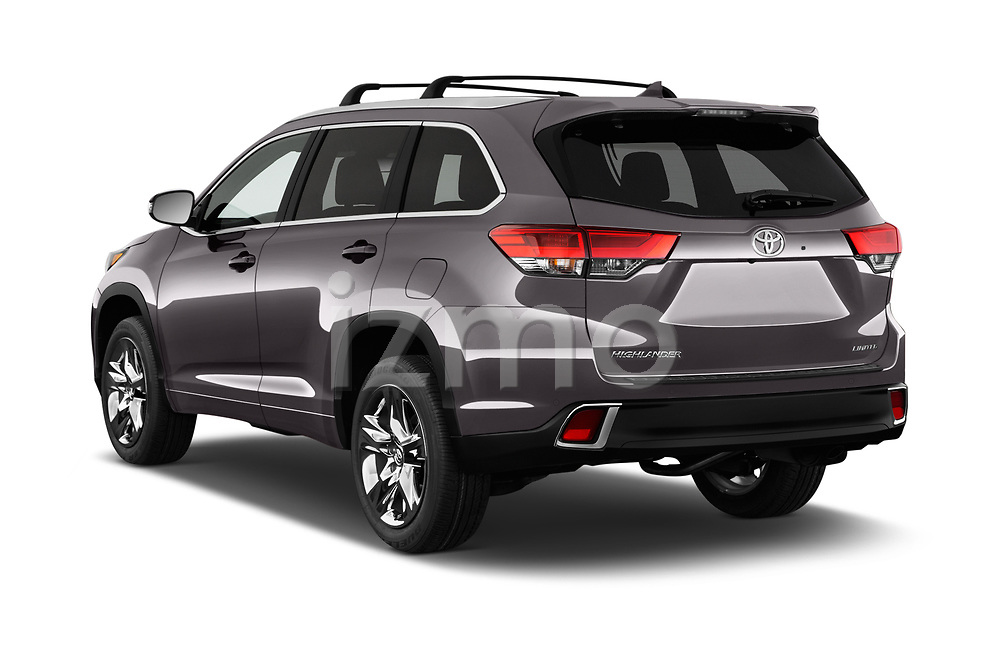 Car pictures of rear three quarter view of 2017 Toyota Highlander Limited-Platinum 5 Door SUV Angular Rear