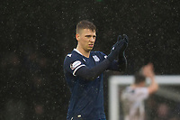 7th March 2020; Somerset Park, Ayr, South Ayrshire, Scotland; Scottish Championship Football, Ayr United versus Dundee FC; Andrew Nelson of Dundee applauds the fans at the end of the match