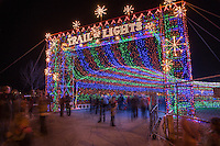 The Entrance Tunnel to the Austin Trail of Lights is part of the Austin Christmas Holiday experience