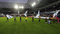 Guard of Honour before the Barclays Premier League match between Swansea City and Leicester City at the Liberty Stadium, Swansea on December 05 2015