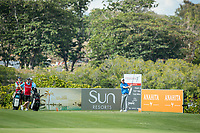 Gavin Moynihan (IRL) on the 7th tee during the 3rd round of the AfrAsia Bank Mauritius Open, Four Seasons Golf Club Mauritius at Anahita, Beau Champ, Mauritius. 01/12/2018<br /> Picture: Golffile | Mark Sampson<br /> <br /> <br /> All photo usage must carry mandatory copyright credit (&copy; Golffile | Mark Sampson)