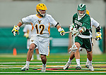 24 April 2012: University of Vermont Catamount F/O Andrew Muscara, a Sophomore from Chandler, AZ, in action against the Dartmouth College Big Green at Virtue Field in Burlington, Vermont. The Catamounts fell to the visiting Big Green 10-5 in Men's Varsity Lacrosse action. Mandatory Credit: Ed Wolfstein Photo