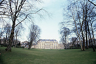 Paris, France, Elysee Palace, Summer 1980. Back view from the gardens.