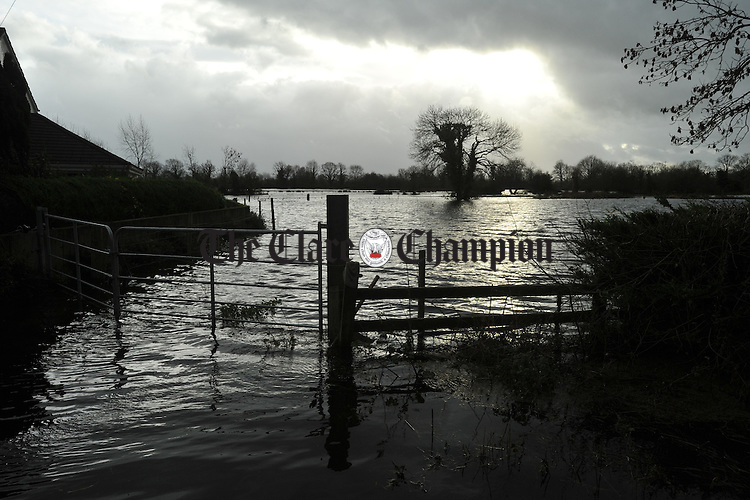 Springfield, Clonlara where a number of residents and farms are cut off due to high flood water levels. Photograph by John Kelly.