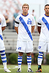 30 August 2015: Duke's Cody Brinkman. The Duke University Blue Devils hosted the DePaul University Blue Demons at Koskinen Stadium in Durham, NC in a 2015 NCAA Division I Men's Soccer match.