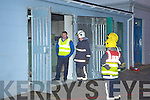 ESB and fire personnel pictured at the ESB sub station on Glebe Lane in Killarney after a small explosion at the plant on Thursday evening.....   Copyright Kerry's Eye 2008
