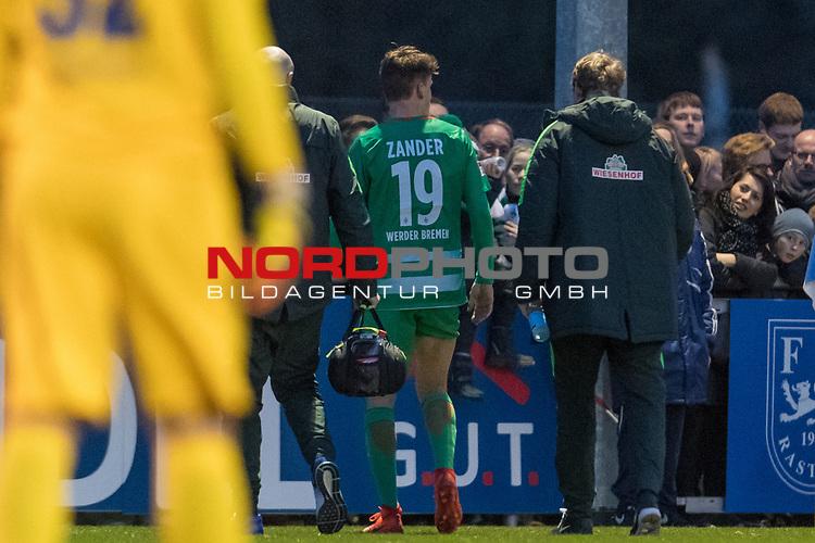 22.03.2017, Sportanlage am Koettersweg, Rastede, GER, FSP, Werder Bremen vs VfB Oldenburg<br /> <br /> im Bild<br /> Luca-Milan Zander (Bremen #19), <br /> <br /> Foto &copy; nordphoto / Ewert