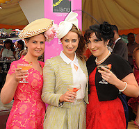 16-07-2015:  Jennifer O'Sullivan, Killarney, Christina Foley, Kenmare and Fiona McGillycuddy, Killorglin,  at the Ross Hotel Lane Bar Cocktail and Champagne Bar  at Killarney Races ladies day on Thursday.  Picture: Eamonn Keogh (macmonagle.com)   NO REPRO FREE PR PHOTO