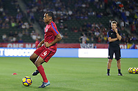 Carson, CA - Sunday January 28, 2018: Tyler Adams prior to an international friendly between the men's national teams of the United States (USA) and Bosnia and Herzegovina (BIH) at the StubHub Center.