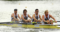 Poznan, POLAND.  2006, FISA, Rowing, World Cup, GBR M4- bow Alex PARTRIDGE, Steve WILLIAMS, Peter REED, Andy TWIGGS HODGE, move  away from  the  start, on the Malta  Lake. Regatta Course, Poznan, Thurs. 15.05.2006. © Peter Spurrier   .[Mandatory Credit Peter Spurrier/ Intersport Images] Rowing Course:Malta Rowing Course, Poznan, POLAND