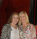 Victoria E. Calderon poses with Grammy Award-Winning Olivia Newton-John after the performance of Victoria E. Calderon's play Manipulation on June 24, 2011 at the Cherry Lane Theatre, New York City, New York. (Photo by Sue Coflin/Max Photos)