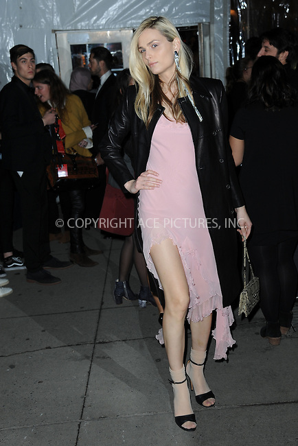 www.acepixs.com<br /> February 8, 2017  New York City<br /> <br /> Andreja Pejic attending the amfAR New York Gala 2017 at Cipriani Wall Street on February 8, 2017 in New York City.<br /> <br /> Credit: Kristin Callahan/ACE Pictures<br /> <br /> Tel: 646 769 0430<br /> Email: info@acepixs.com
