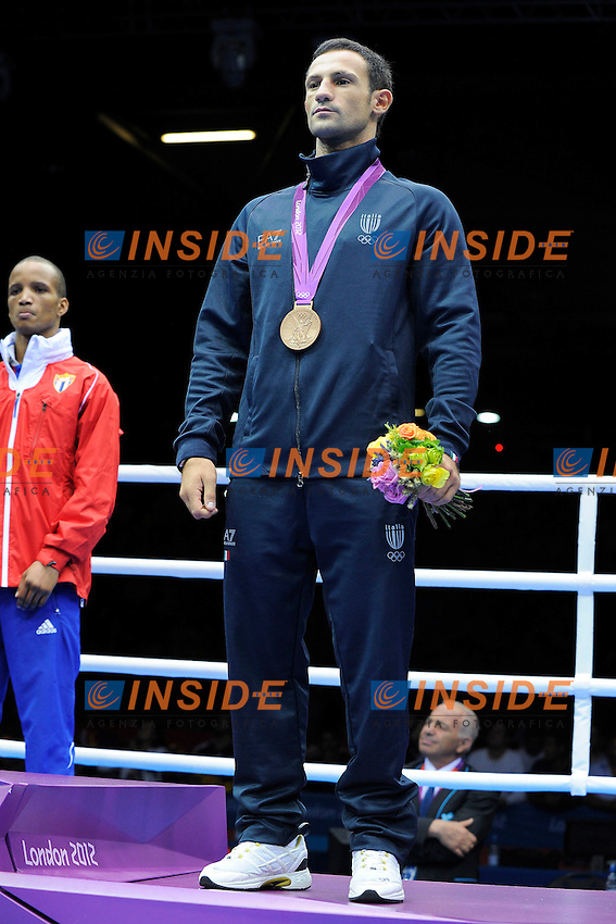 Vincenzo Mangiacapre Italy Bronze medal .BOXE Men's Light Welter 64 Kg.London 11/8/2012 ExCel South Arena 2.London 2012 Olympic games - Olimpiadi Londra 2012.Foto Pool Insidefoto