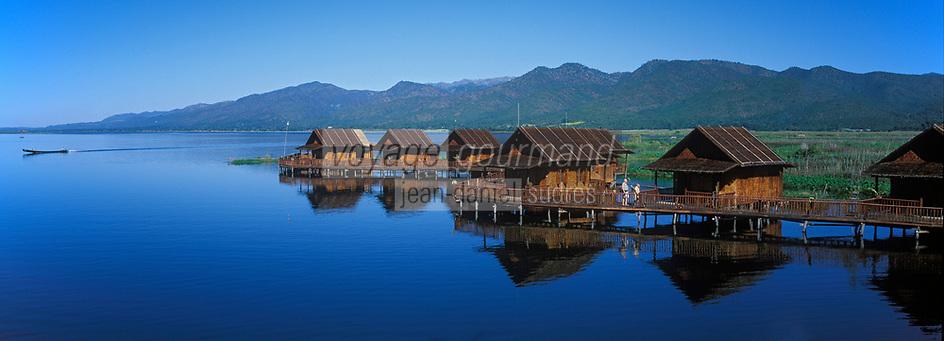 Asie/Birmanie/Myanmar/Plateau Shan/Ywathit: Lac Inle - Hôtel Golden Island