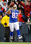 9 December 2007: Buffalo Bills wide receiver Lee Evans celebrates his second touchdown of the game against the Miami Dolphins at Ralph Wilson Stadium in Orchard Park, NY. The Bills defeated the Dolphins 38-17. ..Mandatory Photo Credit: Ed Wolfstein Photo