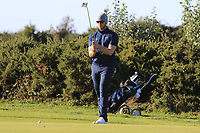 Peter O'Keeffe from Ireland on the 16th green during Round 1 Singles of the Men's Home Internationals 2018 at Conwy Golf Club, Conwy, Wales on Wednesday 12th September 2018.<br /> Picture: Thos Caffrey / Golffile<br /> <br /> All photo usage must carry mandatory copyright credit (© Golffile | Thos Caffrey)