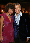 Ariana DeBose and Sergio Trujillo during the Opening Night Actors' Equity Gypsy Robe Ceremony honoring  Afra Hines for 'Summer:The Donna Summer Musical at Lunt-Fontanne Theatre on April 23, 2018 in New York City.