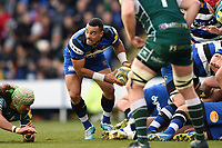 Kahn Fotuali'i of Bath Rugby looks to pass the ball. Aviva Premiership match, between London Irish and Bath Rugby on November 19, 2017 at the Madejski Stadium in Reading, England. Photo by: Patrick Khachfe / Onside Images