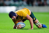 Dean Mumm of Australia scores a late try to seal the game. The Rugby Championship match between Argentina and Australia on October 8, 2016 at Twickenham Stadium in London, England. Photo by: Patrick Khachfe / Onside Images