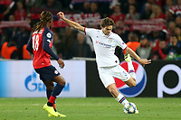Marcos Alonso of Chelsea and Renato Sanches of Lille OSC during Lille OSC vs Chelsea, UEFA Champions League Football at Stade Pierre-Mauroy on 2nd October 2019