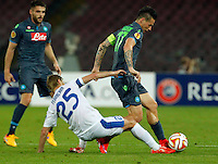 Marek Hamsik  during Europa League Semi Final first    leg soccer match, between SSC Napoli and  Dinipro   at  the San Paolo   stadium in Naples  Italy , May 07, 2015