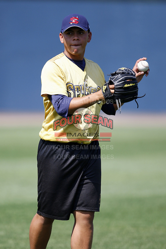 June 24, 2009:  Pitcher Nelson Pereira of the State College Spikes during a game at Eastwood Field in Niles, OH.  The Spikes are the NY-Penn League Short-Season A affiliate of the Pittsburgh Pirates.  Photo by:  Mike Janes/Four Seam Images