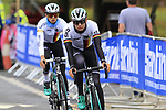 Team Germany take advantage of free practice on the Harrogate Circuit before the Men Elite Individual Time Trial of the UCI World Championships 2019 running 54km from Northallerton to Harrogate, England. 25th September 2019.<br /> Picture: Eoin Clarke | Cyclefile<br /> <br /> All photos usage must carry mandatory copyright credit (© Cyclefile | Eoin Clarke)