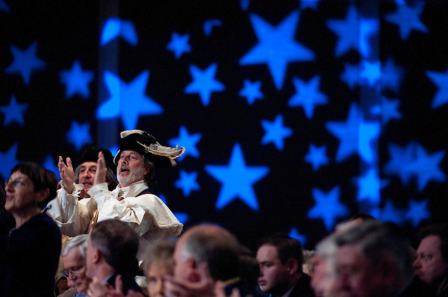 UNITED STATES – OCTOBER 7: Tea Party activist William Temple cheers during remarks by Rep. Steve King, R-Iowa, at the Family Research Council's Values Voter Summit in Washington on Friday, Oct. 7, 2011. (Photo By Bill Clark/CQ Roll Call)