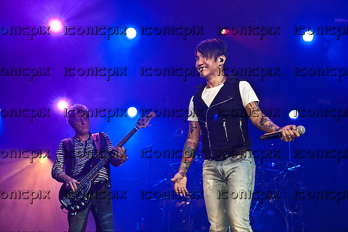 JOURNEY - vocaist Arnel Pineda performing live at The San Manuel Amphitheatre in Devore, CA USA - July 21, 2012.  Photo © Kevin Estrada / Iconicpix