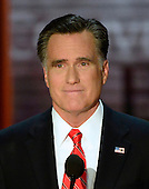 Mitt Romney, Republican nominee for President of the United States makes remarks at the 2012 Republican National Convention in Tampa Bay, Florida on Thursday, August 30, 2012.  .Credit: Ron Sachs / CNP.(RESTRICTION: NO New York or New Jersey Newspapers or newspapers within a 75 mile radius of New York City)
