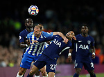 Glenn Murray of Brighton challenges Lucas Moura of Tottenham during the premier league match at the Amex Stadium, London. Picture date 17th April 2018. Picture credit should read: David Klein/Sportimage