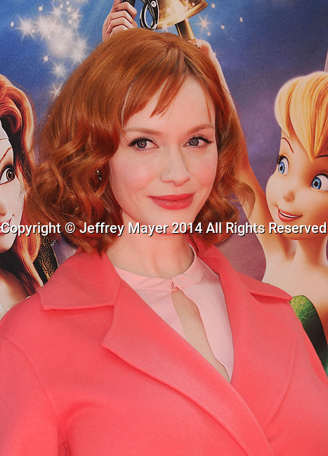 BURBANK, CA- MARCH 22: Actress Christina Hendricks  attends the premiere of DisneyToon Studios' 'The Pirate Fairy' at Walt Disney Studios on March 22, 2014 in Burbank, California.