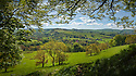 View from edge of woodlands near Pott Shrigley, Peak District National Park, Cheshire, UK. May