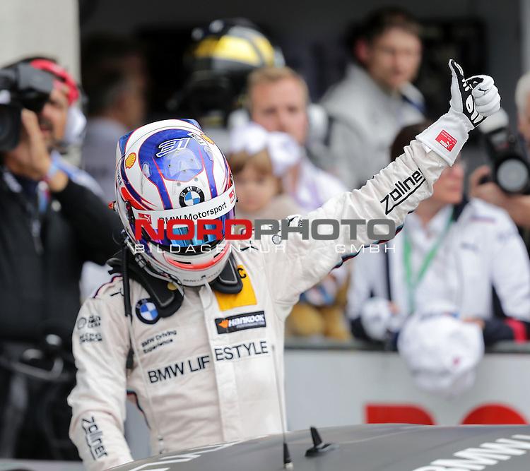 DTM 2015, 07.Lauf Oschersleben, 11.09. - 13.09.15 <br /> Feiert seinen ersten Sieg in der DTM Tom Blomqvist (SWE#31) BMW Team RBM BMW M4 DTM<br /> <br /> <br /> <br /> <br /> <br /> Foto &copy; nordphoto /  Bratic