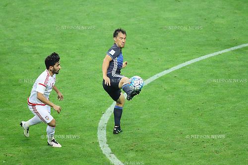 Shinji Okazaki (JPN), <br /> SEPTEMBER 1, 2016 - Football / Soccer : <br /> FIFA World Cup Russia 2018 Asian Qualifier <br /> Final Round Group B <br /> between Japan 1-2 United Arab Emirates <br /> at Saitama Stadium 2002, Saitama, Japan. <br /> (Photo by YUTAKA/AFLO SPORT)