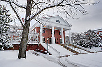 Snow around the Darden School of Business at the University of Virginia.  Photo/Andrew Shurtleff Photography, LLC