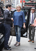 NEW YORK, NY - APRIL 18:  Martha Stewart at Good Morning America  to talk about her new book Martha's Flowers in New York. April 12, 2018 <br /> CAP/MPI/RW<br /> &copy;RW/MPI/Capital Pictures