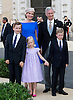 WEDDING OF PRINCE AMEDEO AND ELISABETTA MARIA ROSBOCH VON WOLKENSTEIN<br /> Prince Amedeo the son Princess Astrid of Belgium married Elisabetta Maria Rosboch von Wolkenstein at the Basilica of Santa Maria in Trastevere, in Rome, Italy_05/07/2014<br /> Picture Shows: Queen Mathilde of Belgium, King Philippe  of Belgium, Prince Emmanuel, Princess Eleonore and Prince Gabriel of Belgium  <br /> Mandatory Credit Photos: &copy;NEWSPIX INTERNATIONAL<br /> <br /> **ALL FEES PAYABLE TO: &quot;NEWSPIX INTERNATIONAL&quot;**<br /> <br /> PHOTO CREDIT MANDATORY!!: NEWSPIX INTERNATIONAL(Failure to credit will incur a surcharge of 100% of reproduction fees)<br /> <br /> IMMEDIATE CONFIRMATION OF USAGE REQUIRED:<br /> Newspix International, 31 Chinnery Hill, Bishop's Stortford, ENGLAND CM23 3PS<br /> Tel:+441279 324672  ; Fax: +441279656877<br /> Mobile:  0777568 1153<br /> e-mail: info@newspixinternational.co.uk