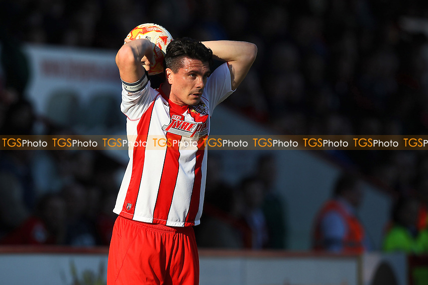 Ron Henry in action for Stevenage - Stevenage vs Newport County - Sky Bet League Two Football at the Lamex Stadium, Broadhall Way, Stevenage - 07/03/15 - MANDATORY CREDIT: Gavin Ellis/TGSPHOTO - Self billing applies where appropriate - contact@tgsphoto.co.uk - NO UNPAID USE
