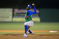 Lexington Legends relief pitcher Yunior Marte (19) in action against the Kannapolis Intimidators at CMC-Northeast Stadium on May 26, 2015 in Kannapolis, North Carolina.  The Intimidators defeated the Legends 4-1.  (Brian Westerholt/Four Seam Images)